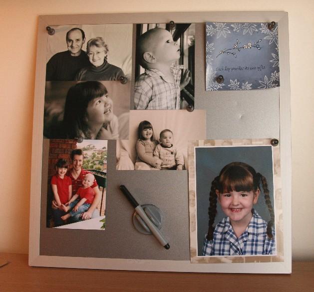 Photo board on desk