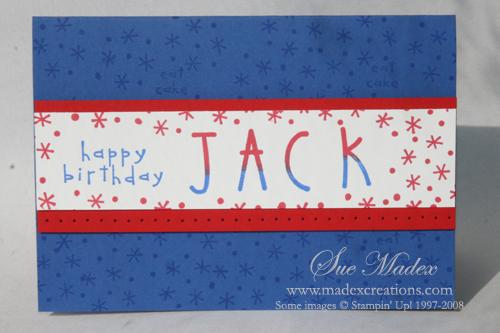 Jack birthday card