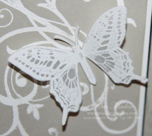 Vellum embossed butterfly