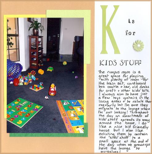 K is for kids stuff