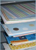 Patterned-paper-pile