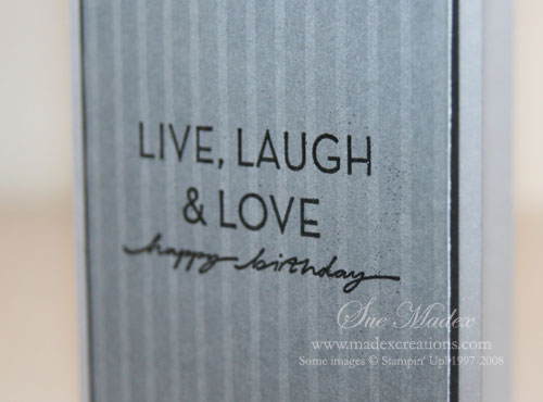 Cards For Men Happy Birthday John Sue Madex Stampin Up