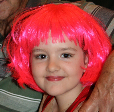 Hannah pink hair