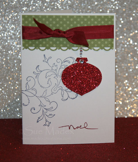 Ornament-glitter-card