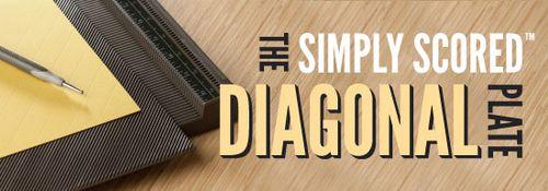 Diagonal-plate