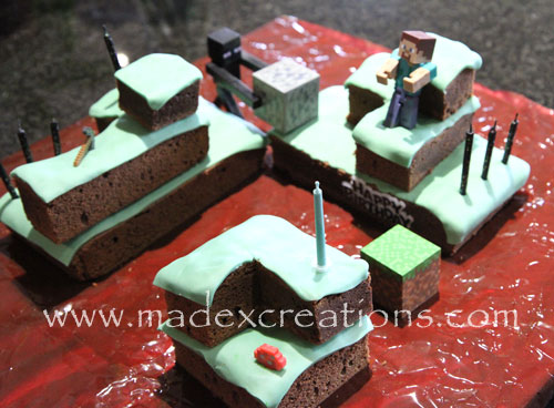 Minecraft-birthday-cake
