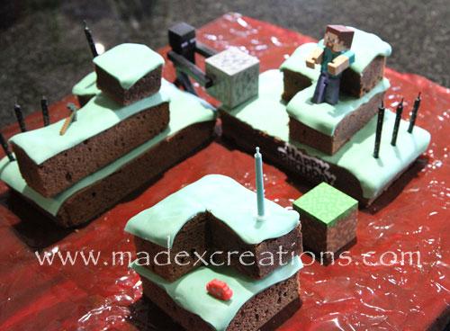 Minecraft-birthday-cake