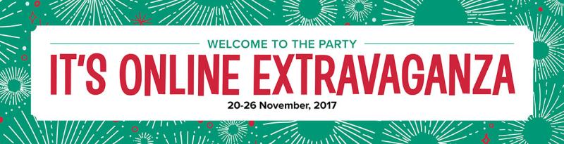 Online extravaganza sale banner