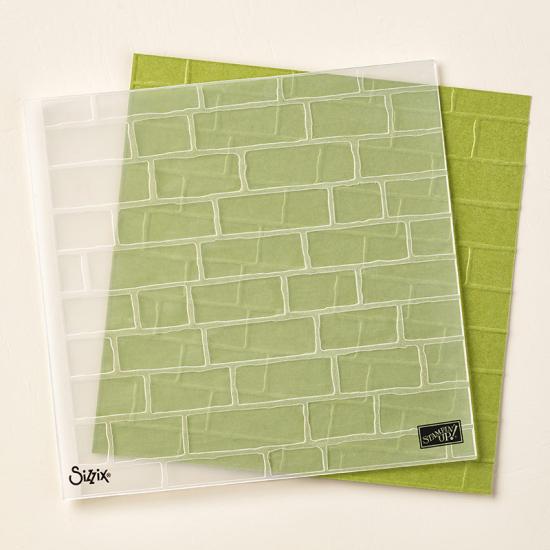 Birck wall embossing folder