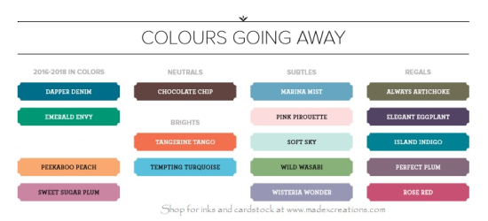 Farewell colour chart
