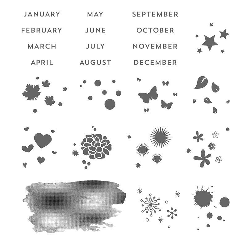 Perpetual Birthday Calendar Stamp Set