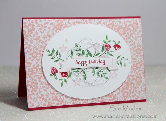Birthday Cards Melbourne ~ Stampin' up: number of years card sue madex: stampin up