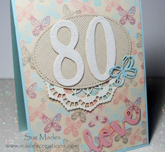 Wishing My Mother In Law A Very Happy 80th Birthday Today She Loves Butterflies So I Used The Pretty Butterfly Paper As Base For This Card Large