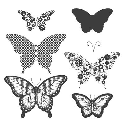Papillon potpourri stamp