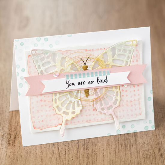 Butterflies thinlits card