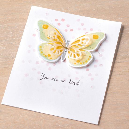 Watercolour wings card