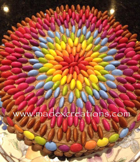 Smartie-cake