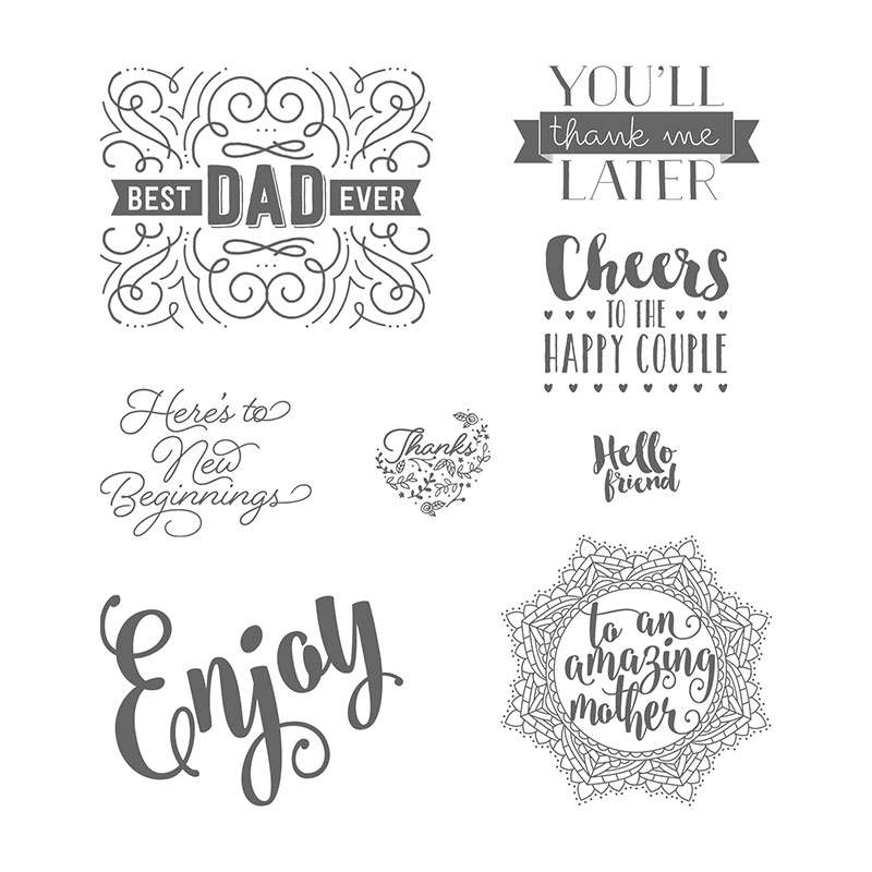 Everyday tags stamp set