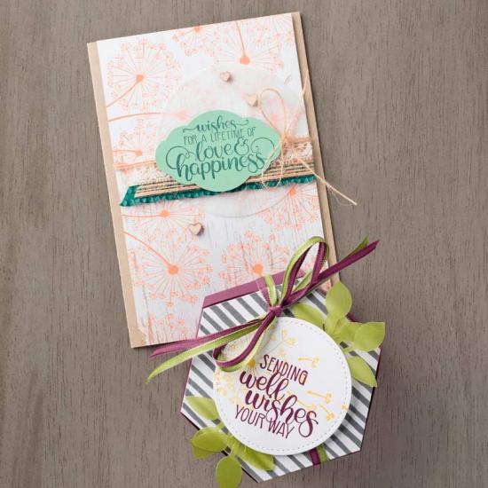 Dandelion wishes card