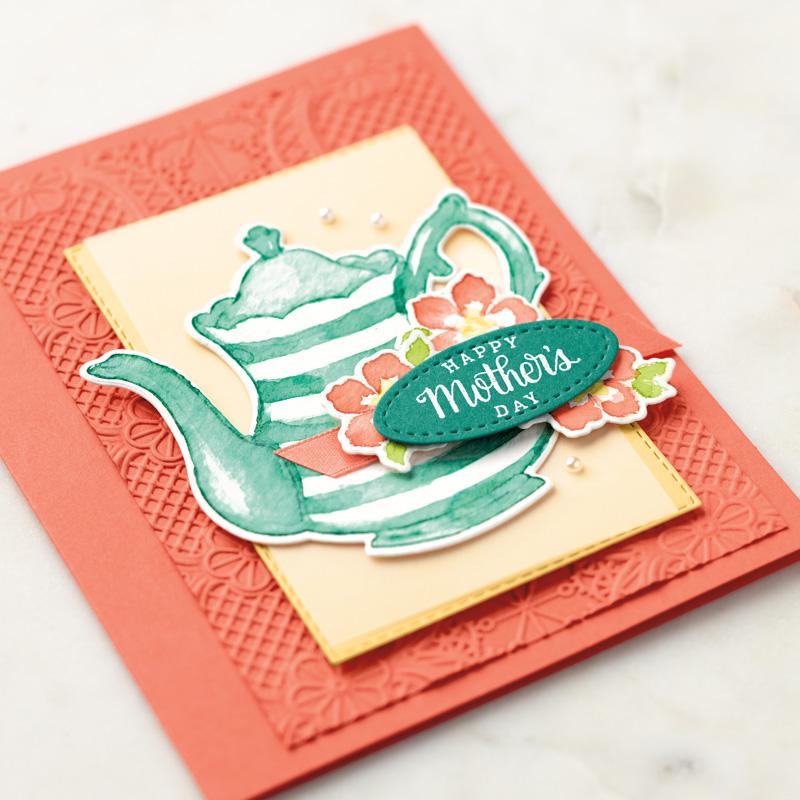 Tea together teapot card
