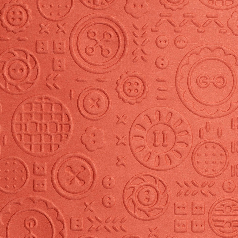 Button button embossing folder