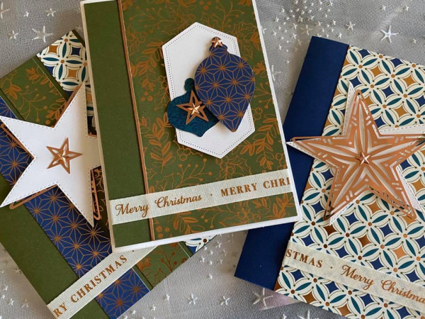 Brightly gleaming cards