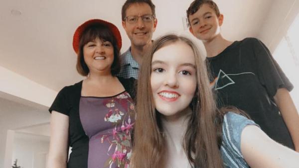 Family christmas selfie