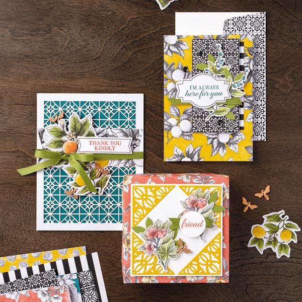Botanical medley cards