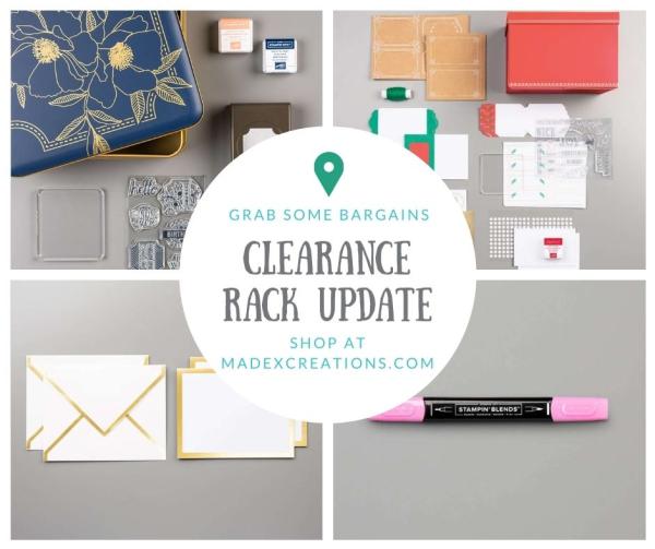 Clearance rack items