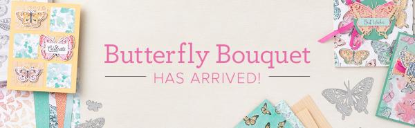 Butterfly bouquet banner