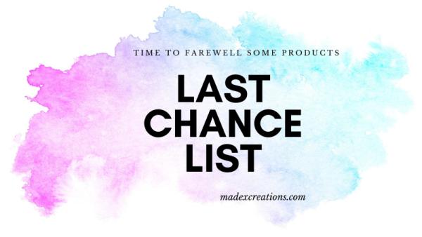 Last chance list banner sue