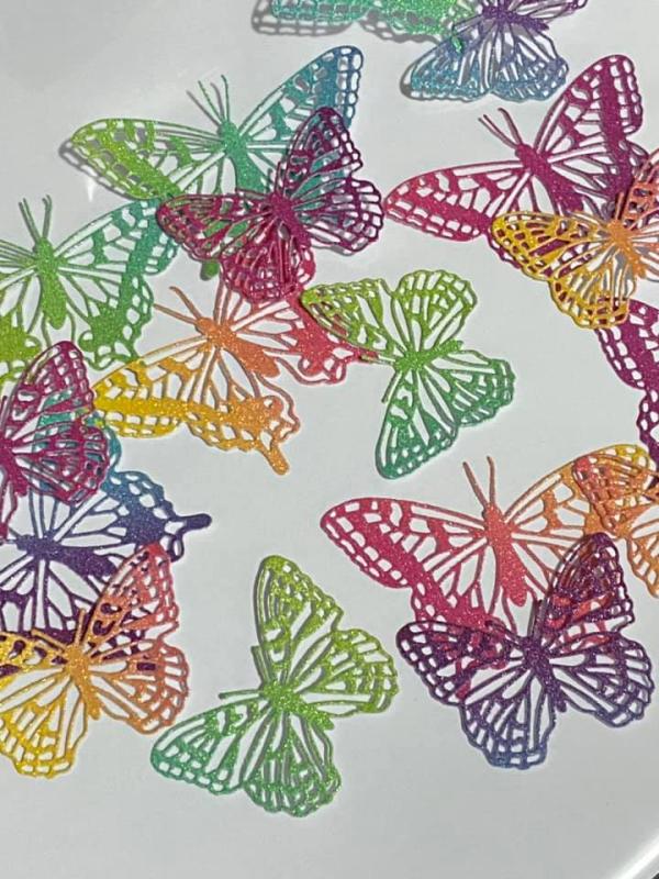 Butterflies glimmer paper