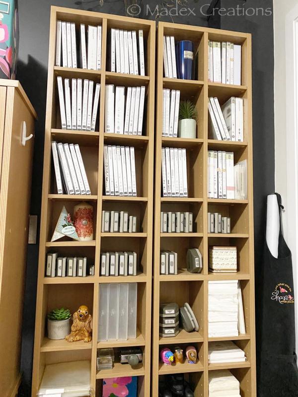 Stamp shelf